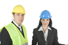 Architects in hard hats Royalty Free Stock Photography