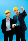 Architects in hardhat Royalty Free Stock Image