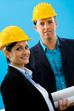 Architects in hardhat Stock Image