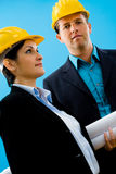 Architects in hardhat Stock Images