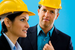 Architects in hardhat Stock Photos