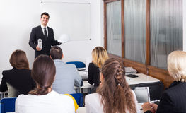 Architects having advanced training courses in classroom Royalty Free Stock Photos
