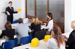 Architects having advanced training courses in classroom Stock Photo