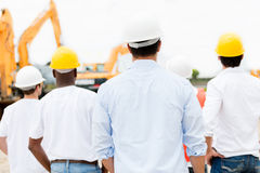 Architects looking at a construction site Stock Image