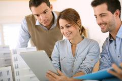 Architects meeting in office Royalty Free Stock Photo