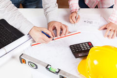 Architects met with planes Stock Photography