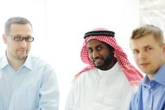 Architects at Middle east discussing engineering Royalty Free Stock Photos