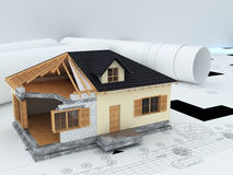 Architects model house Stock Photography