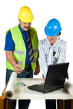 Architects in office consult and look on  projects Stock Images
