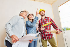 Architects planning and having new ideas Royalty Free Stock Photo