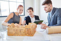Architects planning house Royalty Free Stock Image