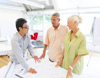 Architects Planning for a New Project Royalty Free Stock Image
