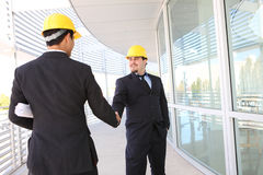 Architects Shaking Hands Stock Image
