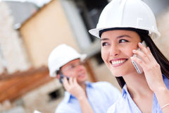 Architects talking on the phone Stock Image