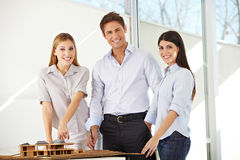 Architects team in office Royalty Free Stock Photos