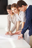 Architects in their office Royalty Free Stock Image