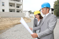 Architects at work Royalty Free Stock Photos
