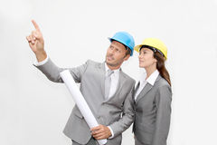 Architects at work Royalty Free Stock Images