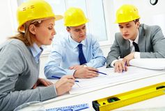 Architects at work Royalty Free Stock Photography
