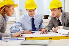 Architects at work Stock Photography