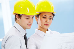 Architects working Stock Photo