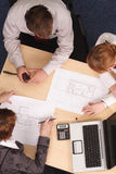 Architects working with blueprints Royalty Free Stock Photography