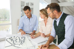 Architects working on new project Royalty Free Stock Photo