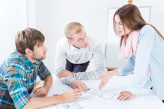 Architects working on new project Stock Photos