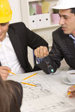 Architects working Royalty Free Stock Photo