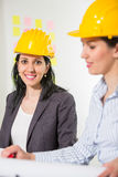 Architects working in office on construction project. Stock Photography