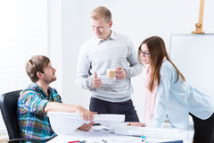 Architects working in the office Royalty Free Stock Photo