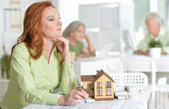 Architects Working In Office stock photo