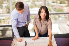 Architects working on a project Royalty Free Stock Images