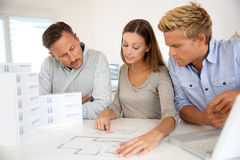 Architects working together on big project Stock Photography