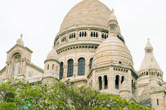 Architectual detail Basilica of Sacred Heart Sacre Coeur in Mont Stock Photos