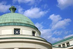 Architectual detail: copper dome royalty free stock photos
