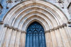 Architectual detail of York Minster in city of York Stock Images