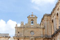 Architectual details on church. In Malta Stock Image