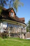 architectually planlagt engelskt hus Arkivfoto