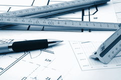 architectur庄园计划实际住宅 免版税图库摄影