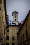 Architectura hôtel de ville de Lviv en janvier 2017 Photographie stock
