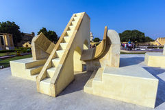 Architecturaal astronomisch instrument in Jantar Mantar Observatory Royalty-vrije Stock Foto