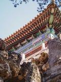 Architecturaal Detail bij Verboden Stad Peking China royalty-vrije stock afbeeldingen