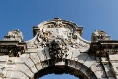 Architecturaal detail van de oude bouw Stock Foto's