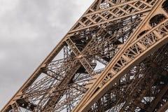 Architecturaal detail van de Toren van Eiffel in Parijs Stock Foto