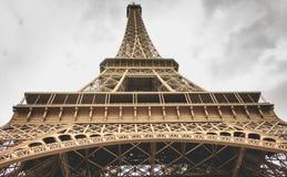 Architecturaal detail van de Toren van Eiffel in Parijs Royalty-vrije Stock Afbeeldingen