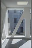 Architecturaal detail van een modern gebouw Royalty-vrije Stock Afbeeldingen