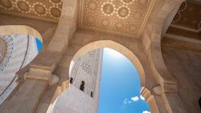 Architecturaal detail van Hassan II Moskee in Casablanca, Marokko Stock Foto