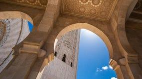 Architecturaal detail van Hassan II Moskee in Casablanca, Marokko Stock Afbeeldingen