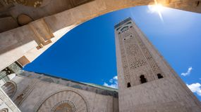 Architecturaal detail van Hassan II Moskee in Casablanca, Marokko Royalty-vrije Stock Fotografie